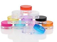 5000pcs 3G quadratische Creme-Gläser klären Plastikmake-upabfüllung, leeren kosmetischen Behälter, kleine Beispielmasken-Kanister
