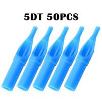 50Pcs 3DT 5DT 7DT 9DT 11DT Per punte per aghi per tatuaggio Consigli monouso per tatuaggio Punta ugello sterile blu Plastica