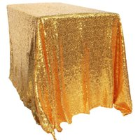 Table Clothes Wedding Dining Table Cover Cloth Sequins PE Square Shape  Tablecloth 100% Polyester Table Decor