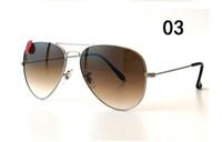 11 Cores dos óculos de sol piloto para as Mulheres Homens metal quadro uv400 lente de vidro gradiente