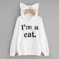 Harajuku Cat Ear Hoody Sweatshirts Kawaii Hoodies With Pocke...