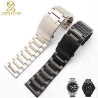 Pulsera de acero inoxidable correa de reloj de metal sólido 24 26 28mm correa de reloj de pulsera de hombres correa para DZ4209 DZ4215 DZ4283 DZ1844