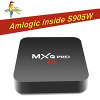 2018 OEM Hot MX2 MXQ PRO Amlogic S905W Quad Core Android 7.1 TV BOX con lettore multimediale 4K personalizzato