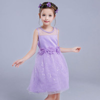 Kids Infant Girls Flower Dress Children Bridesmaid Toddler E...