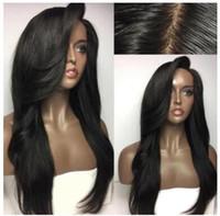 El nuevo especial transfronterizo de este año para la belleza europea de fibra química peluca negra peluca larga venta directa de fábrica al por mayor.