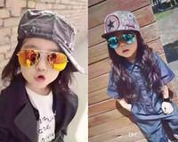 Óculos de sol da moda para crianças frescas espelho reflexivo moldura de metal crianças óculos de sol óculos infantis UV400 B639