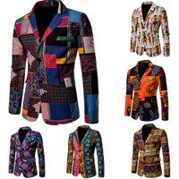 تناسب الرجال أفريقيا دعوى سترة الملابس أزياء الملابس الأفريقية الهيب هوب الحلل عارضة السترة جاكيتات معطف