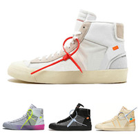 low cost e6c9e 42b22 Off-White x Nike Blazer MidCon scatola 3 lacci Blazer Mid Men Scarpe da  corsa All Hallows Eve Grim Reepers Bianco Nero QUEEN Mens Donna Sneaker da  ...