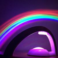 럭키 레인보우 LED 프로젝터 램프 배터리 공급 어린 아기 방 장식 나이트 라이트 놀라운 행운의 다채로운 luminaria는 LED