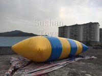شحن مجاني 5 * 2M PVC مياه السريع المنجنيق نفخ القفز النقطة نفخ المياه النقطة كذاب حقيبة المياه وسادة