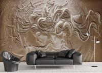 Niestandardowa tapeta 5d tłoczone piękno 3d tapety salon TV papel de parede do pulpitu tapety do ścian 3 d