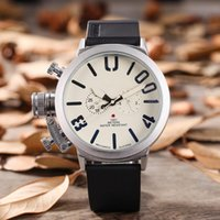 Luxury Brand Men' s Sports Big Dial Rubber Classic Boat ...