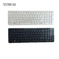 NOVO Teclado dos EUA PARA HP Pavilion 17-N 17-E 17N 17 E R68 Inglês teclado de laptop branco e preto