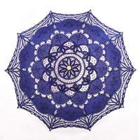 Lace Regenschirme Stickerei Design Regen Sun Parasol für Hochzeitsfest-Hochzeit Dekoration Handgemachte 14 Farben