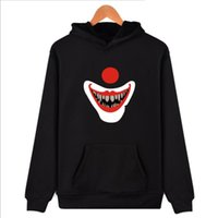 Men's Clothing Horror Movie It Pennywise Oversized Hoodies Sweatshirt Men Women Clown Stephen King Winter Thick Warm Zipper Hooded Jacket Coats