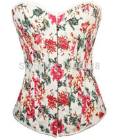 Heißer Verkauf Blumendruck Korsett Top und Bustier 4 Farben Korsetts für Frauen 663 Sexy Plus Size Taillentrainer
