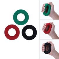 3 цвета O Форма Сила рукоятки Кольцо мускульной силы Обучение резиновое кольцо Тренажер Gym Expander Gripper палец кольцо 30/40 / 50lb