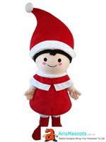 Adult funny Christmas Boy mascot costume custom mascots cart...
