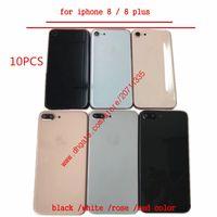 10PCS من قبل شركة دي إتش إل EMS لفون 8 8G 8 زائد X جودة الغطاء الخلفي الإسكان عودة استبدال غطاء البطارية الباب