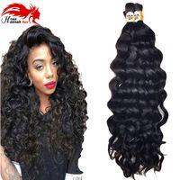 Mongolian Afro Deep Curly Wave Menschenhaar Flechten Bulk 3Pcs 150gram Menschenhaar Remy Für Flechten Bulk No Attachment Hannah Produkt