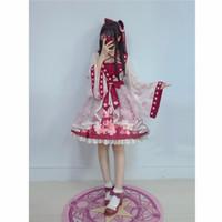 Lolita Chiffon Kleid Goldfisch Stickerei gedruckt Floral Kawaii niedlichen chinesischen Stil Bogen Prinzessin Kleider Cosplay Kostüme