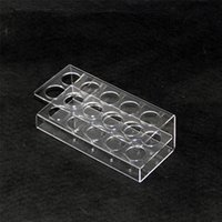 Estante de exhibición de acrílico del soporte del estante del soporte del claro estante de demostración del estante para 10pcs o 16pcs botellas plásticas gorditas de 60ml e botella electrónica de eJuice DHL