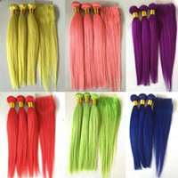 Pure Colored Brazilian Human Hair Bundles With Lace Closure ...