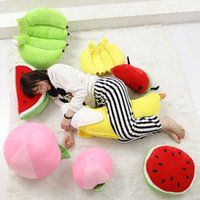 Plush Banana Pillow Plush Fruits Pillow Watermelon Peach Han...