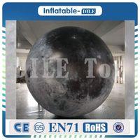 إضاءة LED بالون القمر نفخ لتزيين حزب الرومانسية لعبة نموذج القمر لمرحلة دعامة لعبة الكوكب