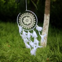 الجملة الأبيض الريشة حلم الماسك الرئيسية حديقة الفنون الهدايا ذات جودة عالية زاك الريش شنقا زخرفة زخرفة الحرف هدية