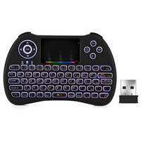 H9 2. 4GHz Wireless Mini Keyboard Air Mouse with RGB Backlit ...