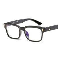 Anti azul quadro de óculos de luz filtro de bloqueio reduz Digital Eye Strain Limpar Regular Computer Gaming Glasses Melhorar o conforto