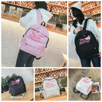 Pink Panther Backpack Canvas Cartoon Backpacks Cute Mini Bag...