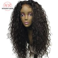 Honrin Hair Deep Curly Deep Part Lace Front Wig Curly Pre Pl...