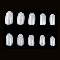 10PC Natural Full Cover False Nails Tips Short Fake Nails Fa...