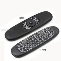 C120 يطير الهواء الفأر اللاسلكية الخلفية لوحة المفاتيح 2.4G قابلة للشحن تحكم عن بعد 360 درجة التحكم البسيطة لوحات المفاتيح لعبة / تلفزيون / قرص