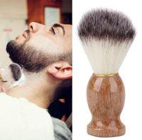 Brocha de afeitar para hombres Barber Salon Men Facial Barba Appliance Shave Tool Maquinilla de afeitar Cepillo con mango para los hombres regalo