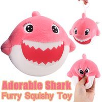 Furry Squishies Adorable Shark Foamed Stuffed Slow Rising Sq...