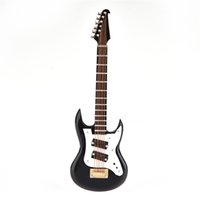 Mini Custom Electric Guitar With Support Miniature Wooden Mu...