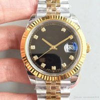 New Mens Watch Sweep Automatic Movement silver with gold Sta...