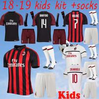 2018 2019 best quality AC Milan kids HIGUAIN Soccer Jerseys home SUSO KAKA  football Jersey Milan third away man Sport shirt 2569a3d9a