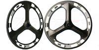 700C roues de carbone de vélo de route clincher engrenage fixe 3-route ou des rayons de roue de bicyclette piste pneu de haute qualité pour les roues Time Trial vélo