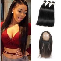 10A Grade Brazilian Virgin Hair Bundles Straight Hair 360 La...