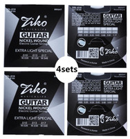 4sets ZIKO .010-.046 DN-010 ملحقات الغيتار لأجزاء الغيتار سلاسل الغيتار الكهربائي