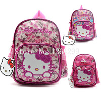 New Fashion Hello Kitty Girls Kindergarten School Bags Kids ...
