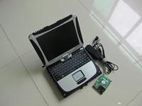 V10.53 ALLDATA Auto Repair Tool Software 2IN1 com 1TB HDD instalado na tela de toque do laptop CF19 para todos os carros e caminhões