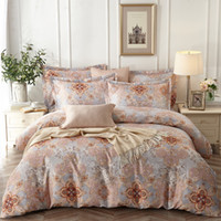 European Style Floral Printed Bedding Sets Cotton Soft Jacqu...
