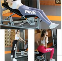 Women Pink Legging Women Love Pink Letter Print Workout Legg...
