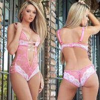 Erotische Sexy Unterwäsche-Knospe-Silk Gaze-hängender Ansatz Backless Charme Abnehmen Hosenträger-Rock Transparent Pyjamas Up Baby Doll drücken