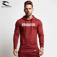 Chaude Hommes Gymnases Hooded Veste Sweatshirts Hommes Pure Coton Hoodies et Joggers Bodybuilding Sweatshirts Livraison Gratuite